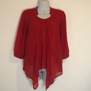 Flowy red blouse - VERO MODA